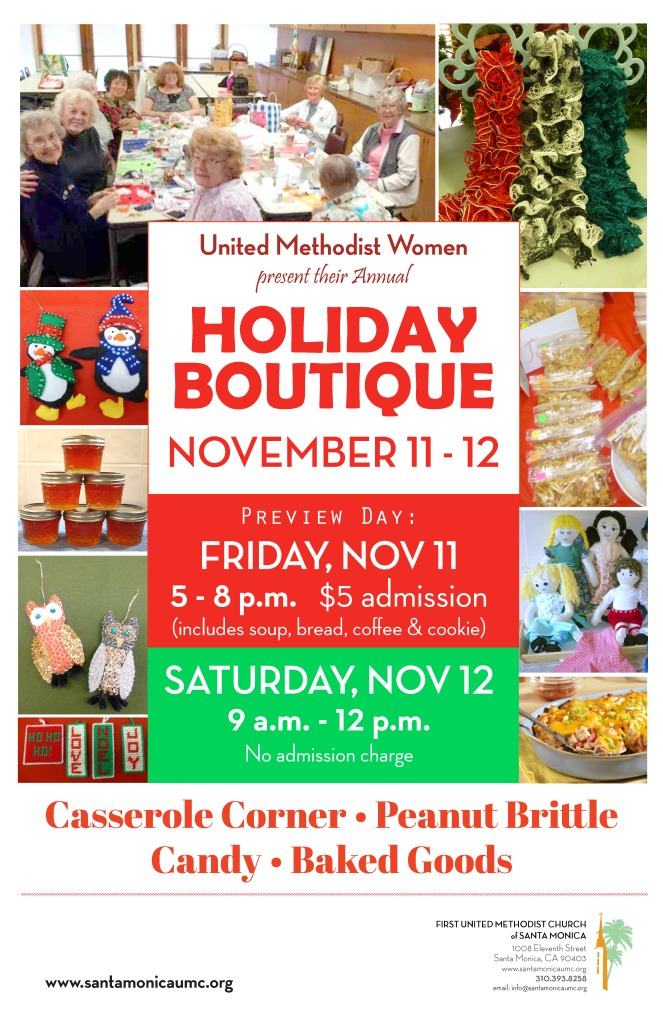 2016 Boutique Flyer First United Methodist Church Of Santa Monica