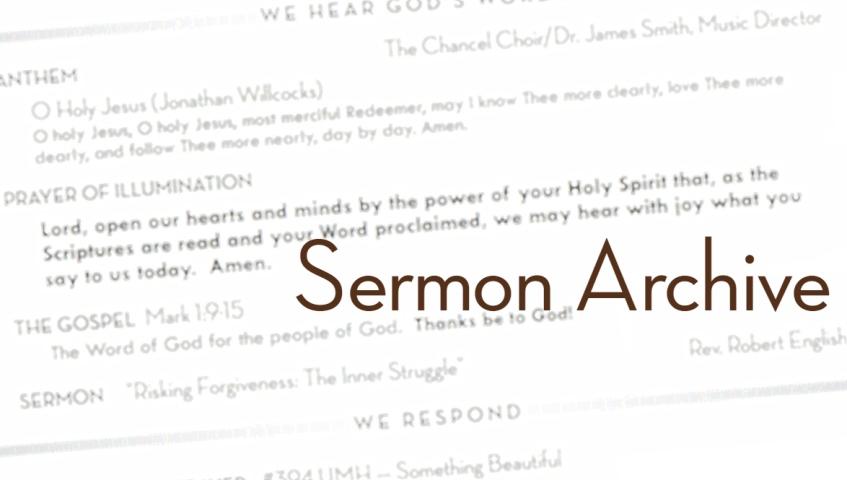 sermon archive header 1 | First United Methodist Church of