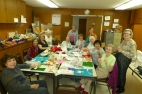 UMW working on crafts for the annual Christmas Boutique