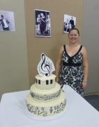 Delicious cake made by member Kim Crawford.
