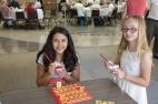Kids enjoying games and treats at Fall Kick Off