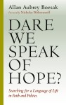 november 2015 book study cover dare we speak of hope