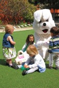 Hanging out with the Easter Bunny.