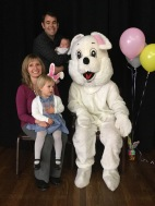 Photo booth with the Easter Bunny.
