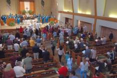 Palm Sunday processional.