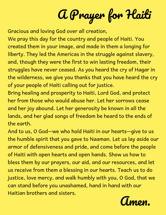 haiti prayer 2019